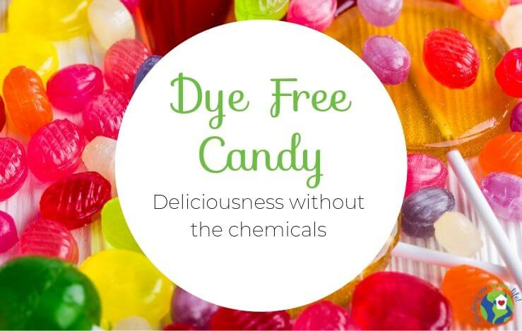 colorful hard candy with text overlay