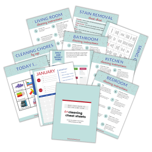 images of cleaning bundle for busy moms printables