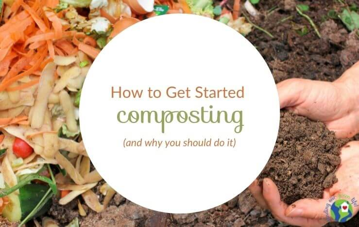 veggie scraps and compost with how to get started composting text overlay