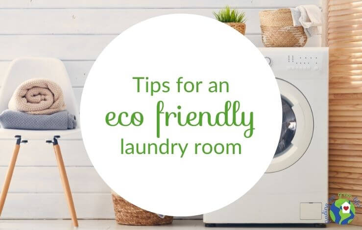 washing machine in eco friendly laundry room with towels on a chair
