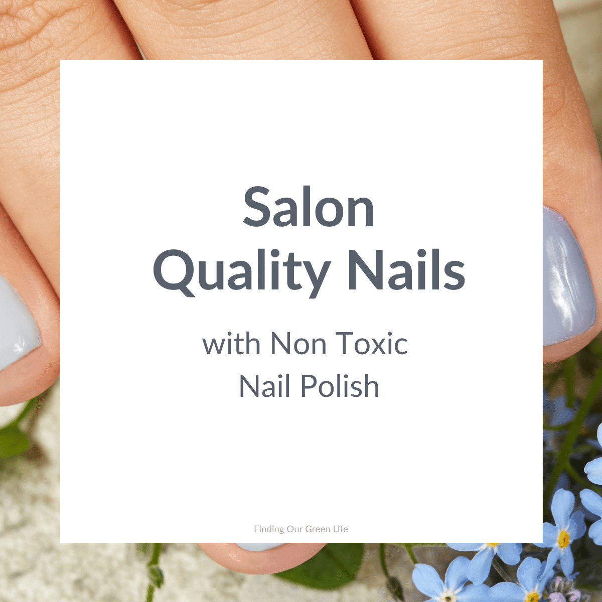 non toxic nail polish on fingers