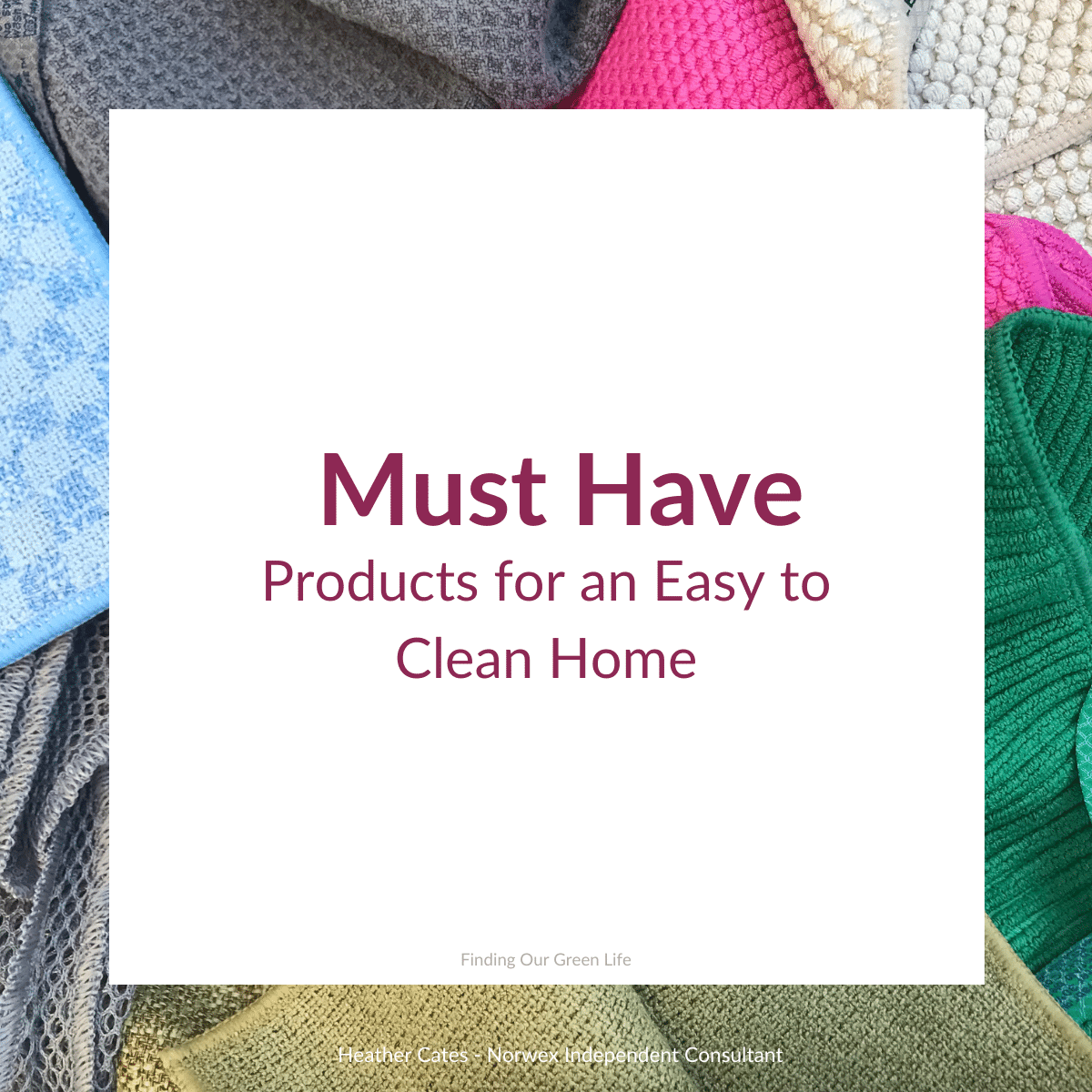 must have norwex cloths for easy cleaning